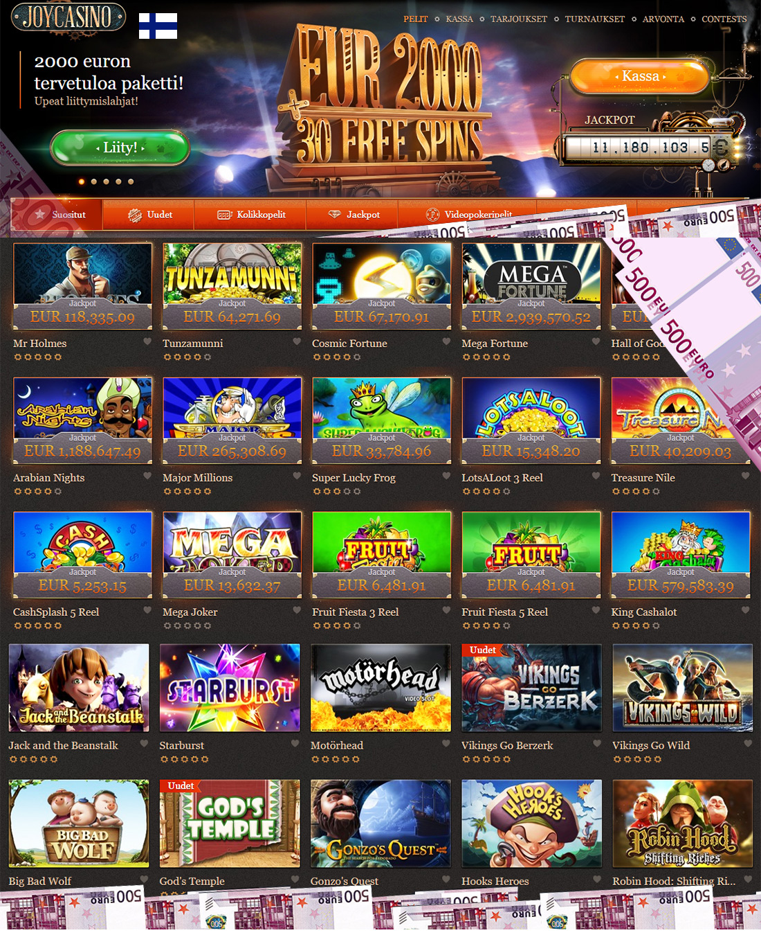 Online casino welcome bonus